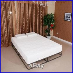 10 Traditional Firm Memory Foam Mattress Bed Two Layer Queen Size with 2 Pillow
