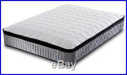 10 inch Pillow top 3000 pocket sprung grey mattress cashmere with memory foam
