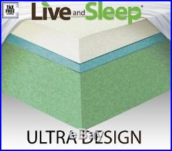 12 Gel-Infused Memory Foam RV Camper Trailer Truck Mattress with Premium Pillow