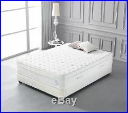 14 Inch Deluxe Cool Memory Foam & Pocket Spring Mattress Plush Euro Pillow Top