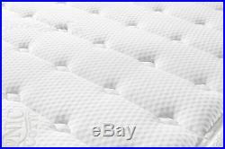 14 King Size Cool Memory Foam & Pocket Spring Mattress Plush Euro Pillow Top