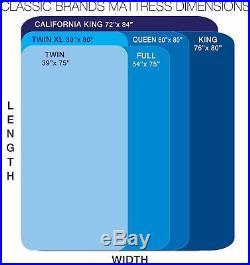 14in Milan Plush Top King Size Cool Gel Memory Foam Mattress 2 Bonus Pillows New
