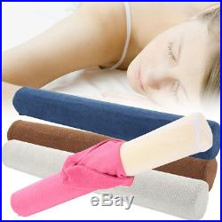 23'' Round Cervical Pillow Roll Memory Foam Neck Lumbar Bolster + Washable UK