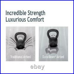 24 Full Dream Pillow Top Dura-Beam Airbed Mattress Internal Pump Free Shipping