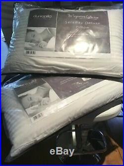 2 JOHN LEWIS Dunlopillo Super Comfort Latex Pillows Firm BRAND NEW RRP £140