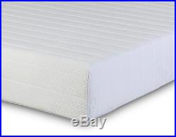 2 Pillows King Memory Foam Reflex 3 Zone Rolled Mattress Quilted Maxi-Cool Cover