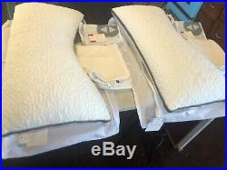 2 Sleep Number ComfortFit Pillows Curved, King with True Temp pillow protectors