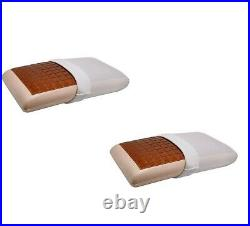 2 X Cooling Cool Gel Memory Foam Copper Infused Wedge Pillow with pillow cover