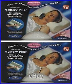 2 x CONTOUR MEMORY FOAM PILLOW ORTHOPAEDIC HEAD NECK SUPPORT SOFT PILLOWS NEW