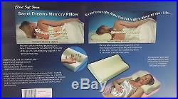 2 x NEW CONTOUR MEMORY FOAM PILLOW ORTHOPAEDIC HEAD NECK BACK SUPPORT PILLOWS