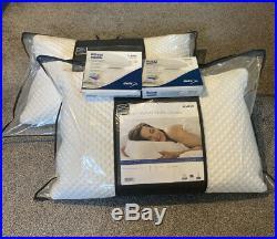 2 x New Tempur Comfort Pillow Plus 2 x Deluxe Pillow Protectors memory foam