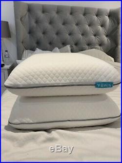 2x Simba Memory Foam Pillows + Protectors Nearly New
