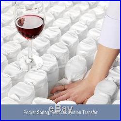 3000 Pocket Springs Sprung Pillow Top Memory Foam Mattress 5FT King LUXDREAM