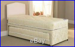 3 IN 1 DIVAN GUEST BED SINGLE DOUBLE BED 2 x MATTRESSES + 2 Memory Foam Pillows