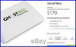3 Pack GhostPillow Ghostbed 11GBPW010 Gel Memory Foam Luxury Pillow $170 MSRP