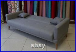 3 Seater Sofa Bed Click Clack Couch Free Two Pillows UK Free Delivery