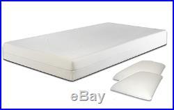 3ft 4ft 4ft6 5ft Memory Foam Mattress Hypoallergenic Zip Cover + FREE Pillows