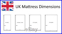 3ft 4ft 4ft6 5ft Memory Foam Mattresses 15cm 20cm 25cm Thick with Free Pillows