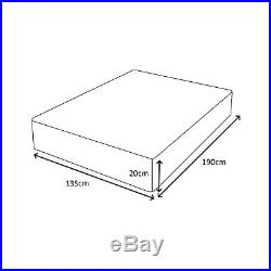 4FT6 Double 135cm Memory Foam Orthopaedic 8 Thick Mattress + FREE PILLOWS