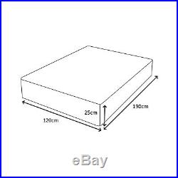 4FT Double 120cm Memory Foam Orthopaedic 10 Thick Mattress + FREE PILLOWS