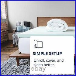 4 Inch Pillow Top Memory Foam Mattress Topper Queen Serene Lux Dual Layer Mat