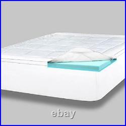 4 Inch Pillow Top Memory Foam Mattress Topper Queen Serene Lux Dual Queen