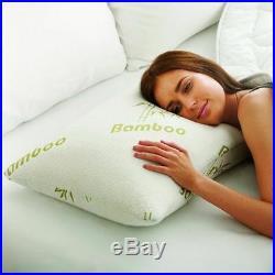 4x Shredded Anti Bacterial Bamboo Memory Foam Pillow Orthopaedic Optimum Support