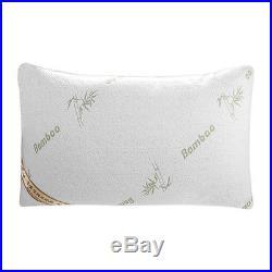 5X(FT Mornden 2 Pack Soft Mould Memory Foam Pillows Bamboo Fiber Pillow Bedding)