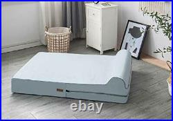 5.5-inch Thick High Grade Orthopedic Memory Foam Dog Bed With Pillow and Easy