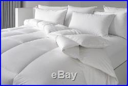 5 Pc Set 5ft White Ottoman Bed Quality Duvet 2 Pillows & Memory Foam Mattress