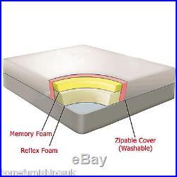 5ft Kingsize 12 Inch Deep Memory Foam Mattress-2pillow