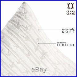 6 Pack Memory Foam Luxurious Bamboo Gel Pillow by Clara Clark King