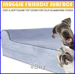 7-Inch Thick High Grade Orthopedic Memory Foam Dog Bed With Pillow And Easy To W