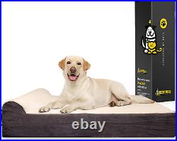 7-inch Thick High Grade Orthopedic Memory Foam Dog Bed With Pillow and Easy