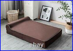 7-inch Thick High Grade Orthopedic Memory Foam Dog Bed With Pillow and Easy t