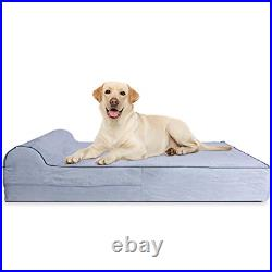 7-inch Thick High Grade Orthopedic Memory Foam Dog Bed With Pillow and Easy to