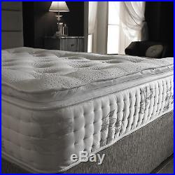 8000 Pocket Mock Side Stitch Pillow Top Mattress With Memory Foam