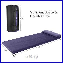 AONESY Camping Mattress Memory Foam Mat With Pillow 192x96x7CM Camping Sleeping