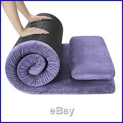 AONESY Camping Mattress Memory Foam Mat With Pillow Camping Sleeping Bed Pad