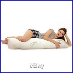 Aloe 99 Hypoallergenic Aloe Vera Bamboo Memory Foam Full Body Pillow for