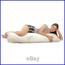 Aloe 99 Hypoallergenic Aloe Vera Bamboo Memory Foam Full Body Pillow for Adults