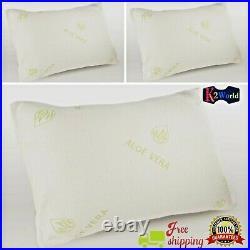 Aloe Vera Memory Foam Bamboo Shredded Anti Bacterial Back Neck Support Pillow