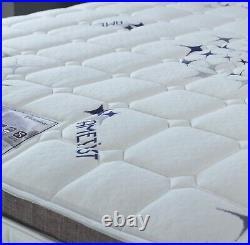 Ametist Crystal 2500 Pocket Sprung Pillow Top Mattress Memory Foam Mattress