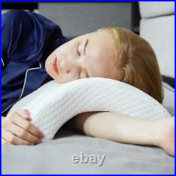 Arm Cuddling Memory Foam Pillow Tunnel Curved Slow Shaped Rebound Detachable
