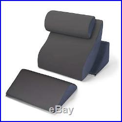 Avana Kind Bed Orthopedic Support Pillow Comfort System, Gray/Navy (NEW)