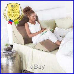 Awesome Pillow For Bed Wedge Memory Foam Adjustable Rest Cushy Support Comfort