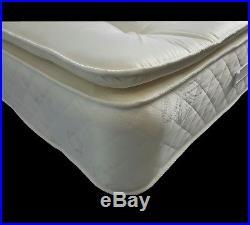 BEST BUY 4ft6 Double Memory Foam 3000 Deep Sprung Pillow Top British Mattress