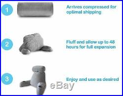 BEST High Back Reading Bed Rest Pillow with Arms Cup Holder for Adult Sitting Up