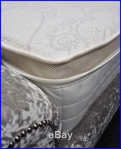 BEST Luxury Linen 4ft6 Double 3000 Pocket Sprung Pillow Top Mattress Memory Foam