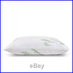 Bamboo Cooling Shredded Memory Foam Pillow with Hypoallergenic Cover 2 Pc Queen